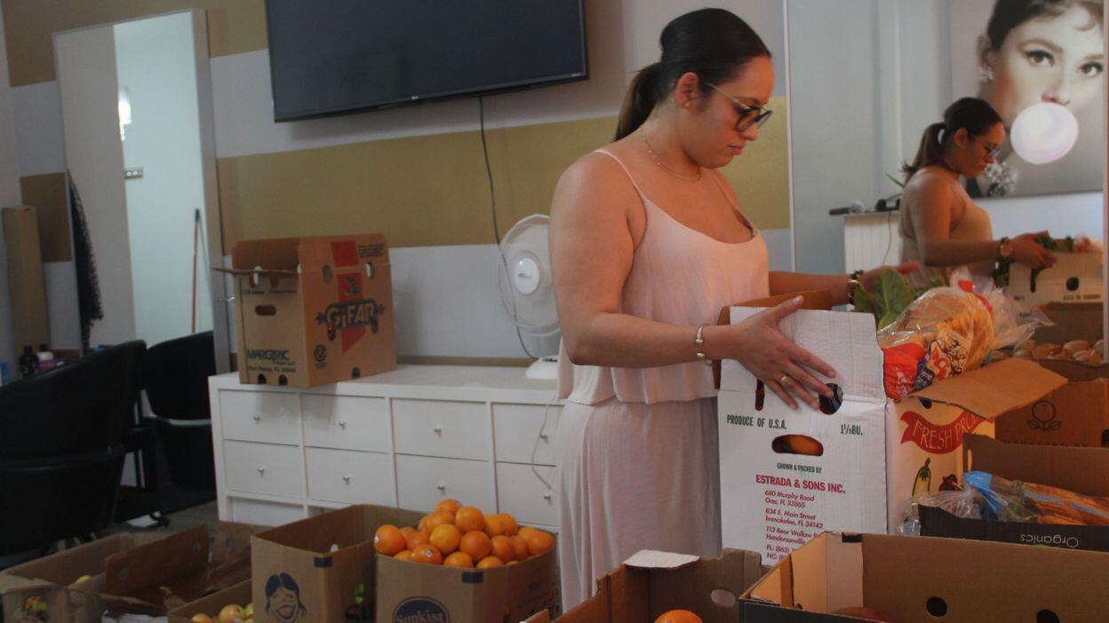 Mayte Cabrera a soutenu 500 familles et amassé plus de 6500 euros en dons en argent et en denrées alimentaires.