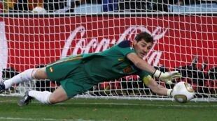 Le gardien de but espagnol Iker Casillas, lors de la finale de la Coupe du monde 2010.
