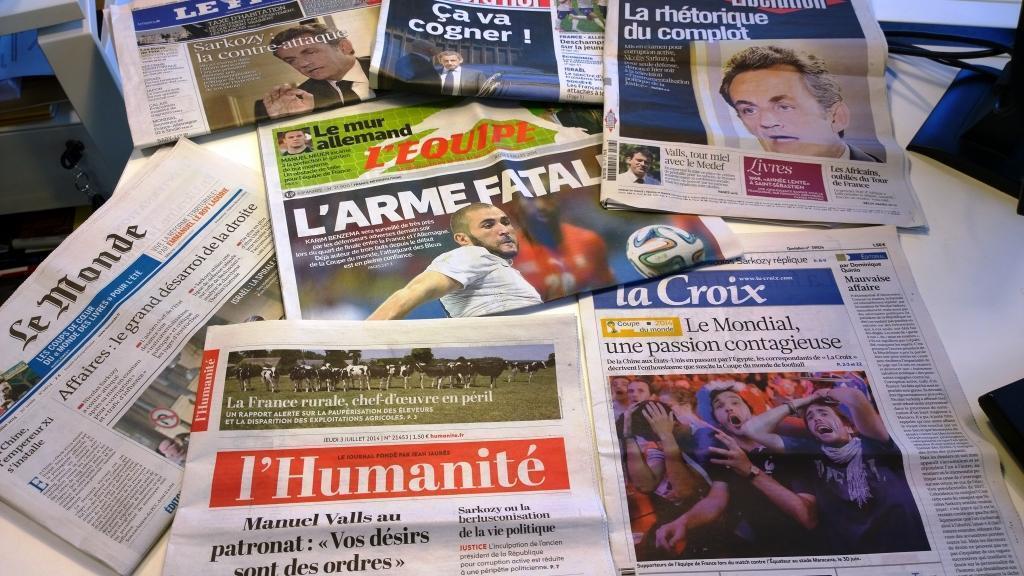 Diários franceses 03/07/2014