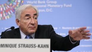 O diretor-geral do FMI, Dominique Strauss-Kahn