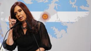A presidente da Argentina, Cristina Kirchner, em evento na Casa Rosada.