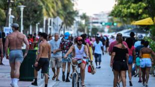 El paseo Ocean Drive en Miami  Beach, Florida, el 26 de juniio de 2020