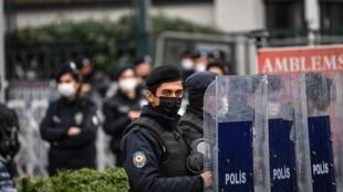Police anti-émeute à Istanbul (image d'illustration).