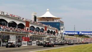 Vue du circuit du Grand Prix de Turquie à Istanbul Park.