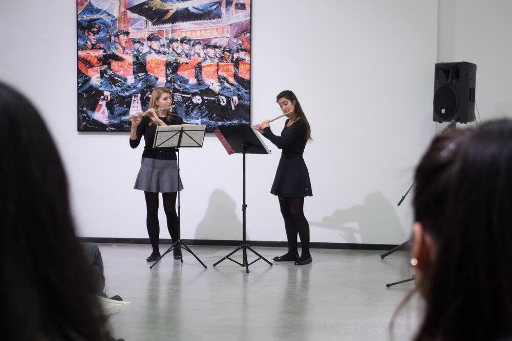 11月9日展覽開幕式現場藝術家表演