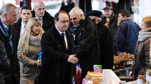 François Hollande visits Tulle, the town of which he used to be mayor, on Saturday
