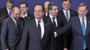 Президент Франции Франсуа Олланд на саммите ЕС в Брюсселе 14 марта 2013