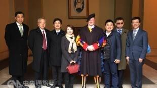 台湾立法院外交及国防委员会组团访问梵蒂冈。2018-02-05
