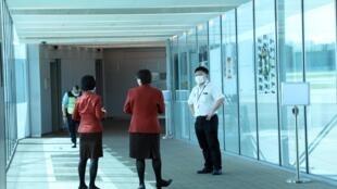 新加坡机场等来自杭州的班机2020年1月22日