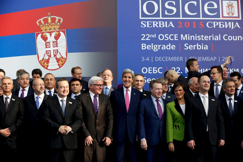 Джон Керри в Белграде 3 декабря