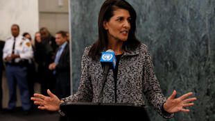 Tân đại sứ Mỹ tại Liên Hiệp Quốc Nikki Haley, New York City, 27/01/2017.