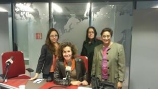 Paola Martinez Infante, Ana Navarro Pedro et Vaiju Naravane.