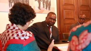 AU Commissioner for Trade Albert Muchanga at the World Export Development Forum, Lusaka.