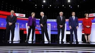 نامزدهای حزب دموکرات آمریکا در شبکه تلویزیونی CNN . ١٤ ژانویه ٢٠٢٠.