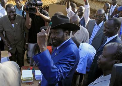 Shugaban kudancin Sudan Salva Kiir