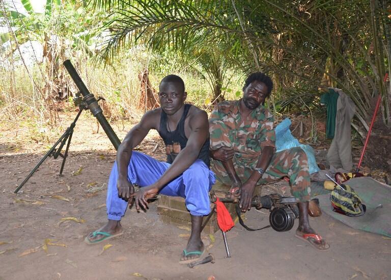 Jamhuri ya Afrika ya Kati: Waasi karibu na eneo la ukaguzi Damara, Januari 2013 (picha ya kumbukumbu).