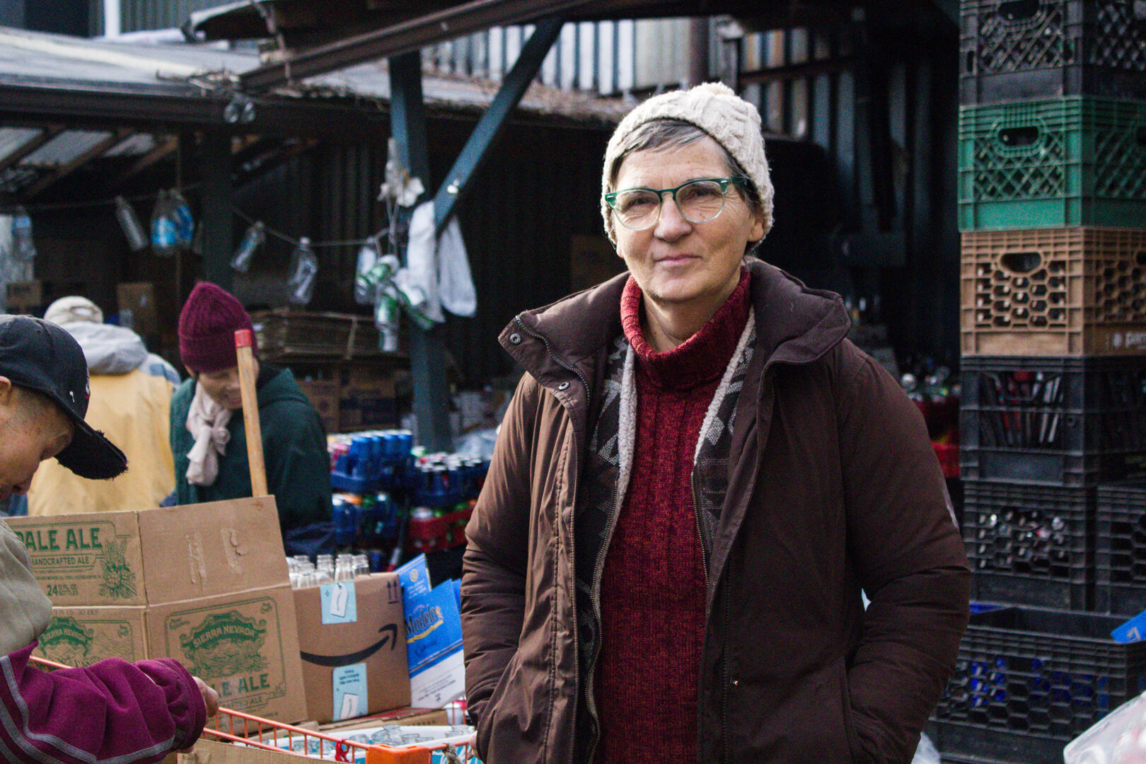 Ana Martinez de Luco, religieuse espagnole, co-fondatrice de Sure We Can, à Brooklyn.