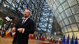 President of the European Council Charles Michel arrives for the second day of a European Union Summit at the Europa building in Brussels on 13 December, 2019.