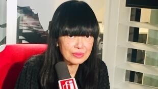 L'écrivaine Linda Lê en studio à RFI (janvier 2020).