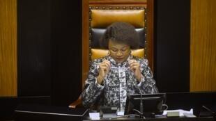 Baleka Mbete, la présidente de l'Assemblée nationale, est la femme la plus haut placée dans l'organigramme de l'ANC (photo: avril 2016).