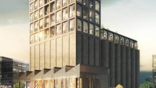 le bâtiment du Zeitz Museum of Contemporary Art Africa (Mocaa) au Cap, en Afrique du Sud.