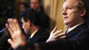 Julian Assange in February