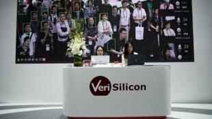 5 công ty công nghệ Trung Quốc bị trừng phạt. Ảnh: Giới thiệu công nghệ nhân dạng thông minh tại triển lãm công nghệ tại Thượng Hải ngày 11/06/2019