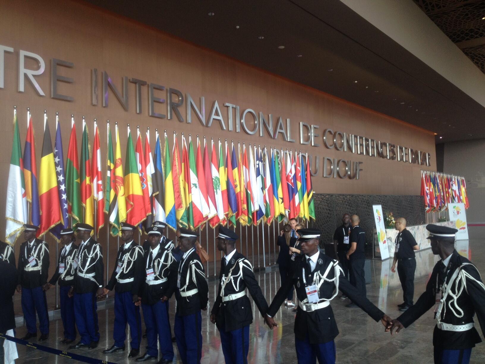 The Abdou Diouf international conference Center in Djiamnadjio near Dakar, Senegal