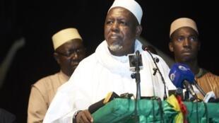 L'imam Mahmoud Dicko lors du lancement de son mouvement CMAS en septembe 2019 à Bamako.