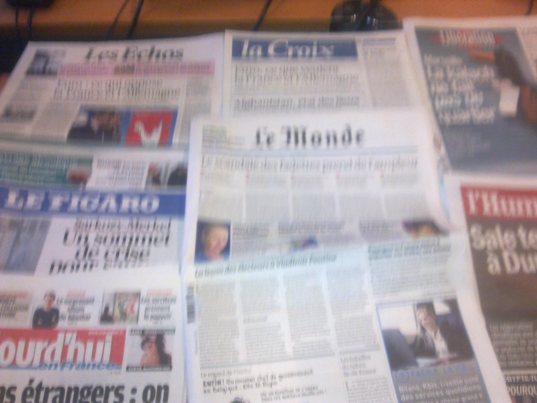 Diários franceses  05/12/2011