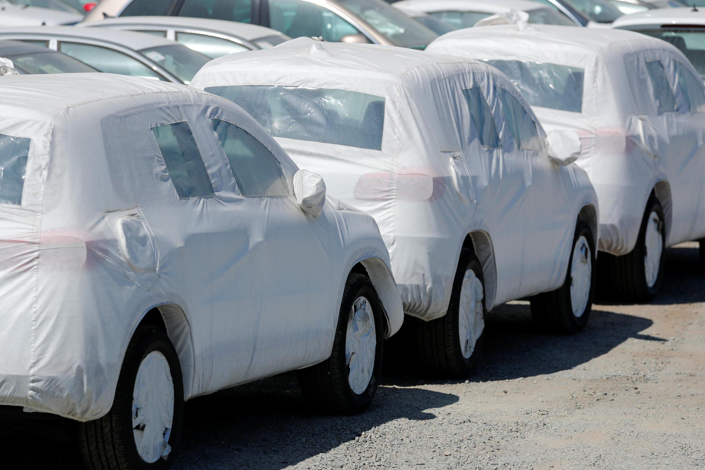 Xe hơi Đức Volkswagen vừa nhập vào Mỹ. Ảnh tại Chula Vista, California, ngày 27/06/2018.