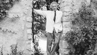 Jean Cocteau à Milly-la-Forêt, le 24 juillet 1963.