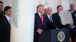 Le président américain Donald Trump à la Maison Blanche, le 8 janvier 2020.