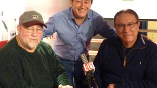 Manu Terrero y Juan Carlos Carrasco con Jordi Batallé en RFI