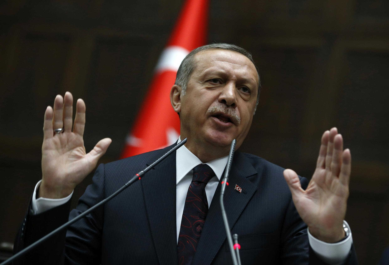 Le Premier ministre turc Recep Tayyip Erdogan, le 8 avril 2014 à Ankara.