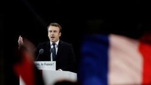 Macron tras su victoria