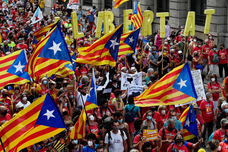 Le jour de la «Diada à Barcelone le 11 septembre 2021