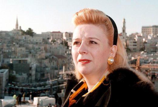 Souha Arafat, le 23 décembre 1995 à Bethléem