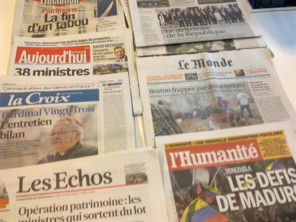 Diários franceses  16/04/2013