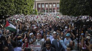 Maroc - Parlement - Rabat - manifestation - Palestine