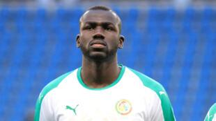 Le Sénégalais Kalidou Koulibaly, lors du match Sénégal-Bosnie du 27 mars 2018 au Havre (France).