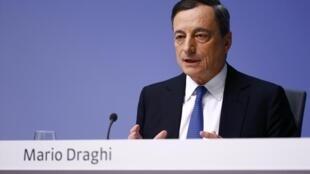 Mario Draghi, presidente do Banco Central Europeu.