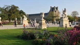 El Jardín de Tullerías fue construido en 1561 por Catalina de Médicis.