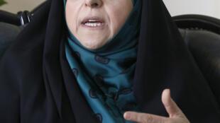 معصومه ابتکار، معاون رئیس جمهور و رئیس سازمان حفاظت محیط زیست ایران، در گفتگو با خبرگزاری فرانسه در تهران. ٨ آبان/ ٢٩ اکتبر ٢٠۱۶