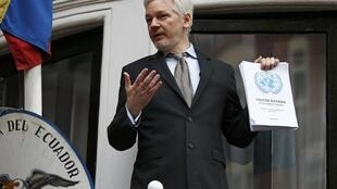 Julian Assange na Embaixada do Equador em Londres