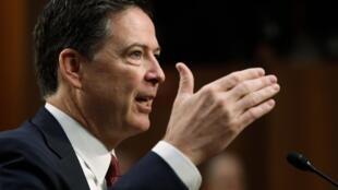 6月8日,前美国联邦调查局局长科米在美国国会出席听证会。