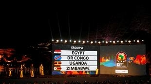 Africa Cup of Nations Draw - The Great Pyramids, Giza, on the outskirts of Cairo, Egypt, April 12, 2019. General view of Group A during the draw .