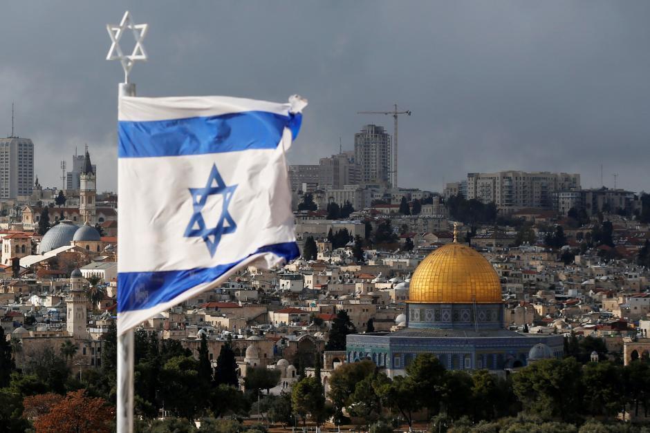 Tutar kasar Isra'ila akan wani tsauni da ke Birnin Kudus.