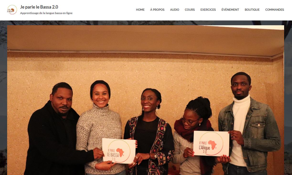 Capture d'écran du site «Je parle le Bassa 2.0».