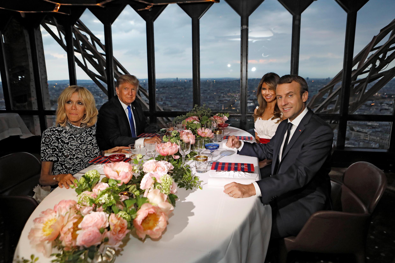 Đón TT Macron về khu di tích Mount Vernon, TT Mỹ muốn đáp lại buổi dạ tiệc trên thượng tầng Tháp Eiffel ngày 13/07/2017.